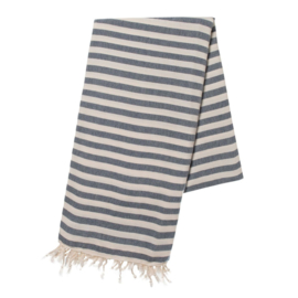 Hamamdoek STRIPE navy