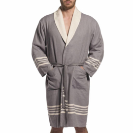 Hammam terry bathrobe His/Her grey