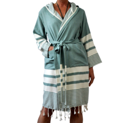 Hammam bathrobe 'Likya' sage