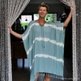 Beach dress Batik Sage green