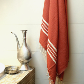 Hammam towel Brick