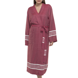 Hammam Bathrobe His/Her Wine Red