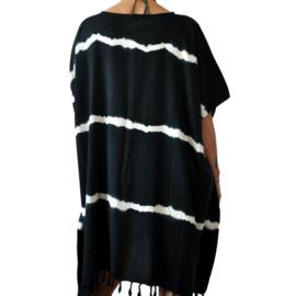 Tunika `Batik` Schwarz mit Bambus
