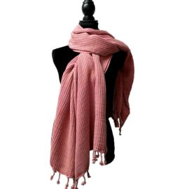 Hamamdoek STONE Vintage pink