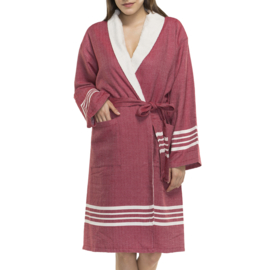 Hammam terry bathrobe His/Her Red