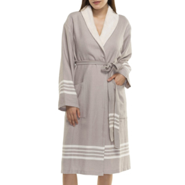 Hammam terry bathrobe His/Her taupe