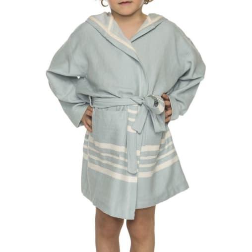Hamam kinderbadjas lichtblauw