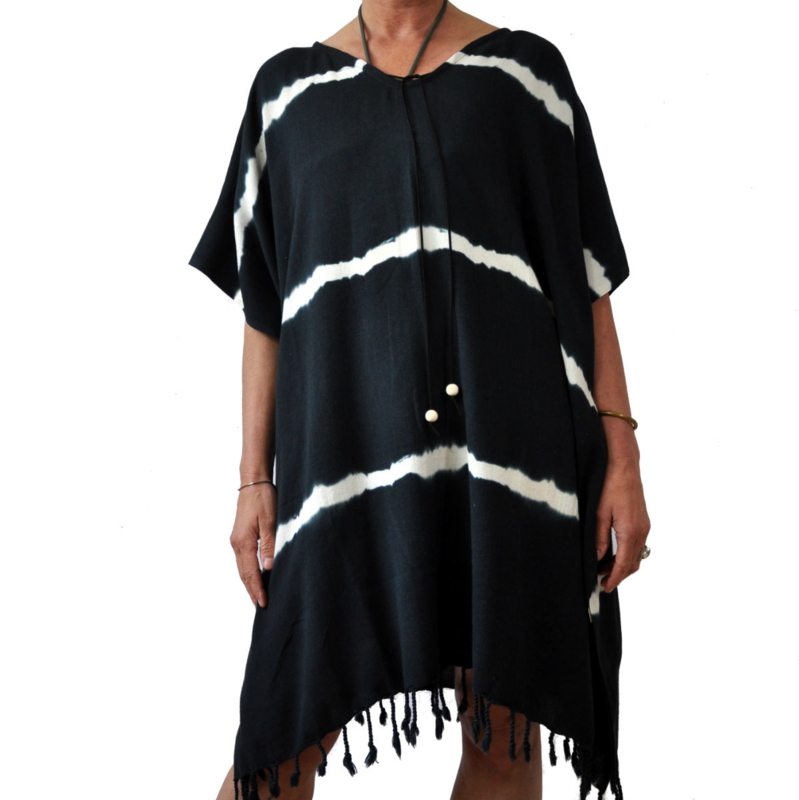 Kaftan / tuniek Batik zwart