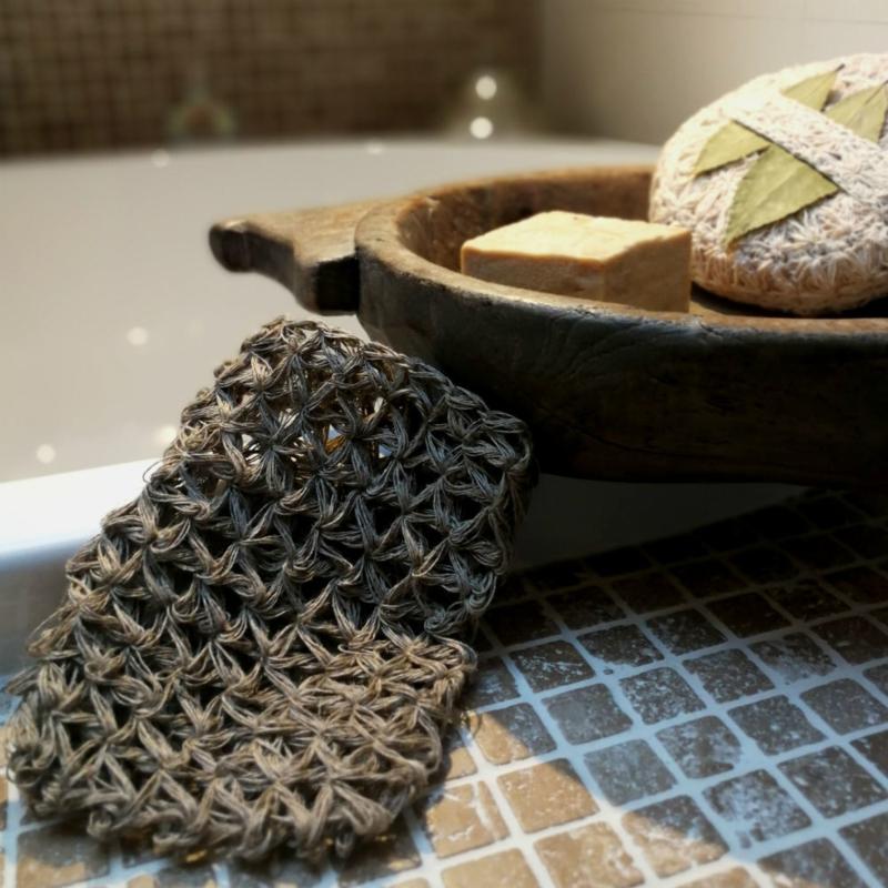 Handgemaakte scrubwashand