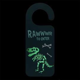 Deurhanger - Blue Dinosaur - Glow in the dark