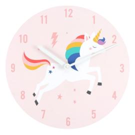 Wandklok - Rainbow Unicorn