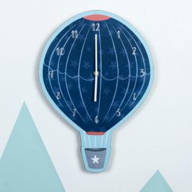 Wandklok - Blue Hot Air Balloon