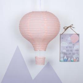 Lampenkap - Pink Hot Air Balloon