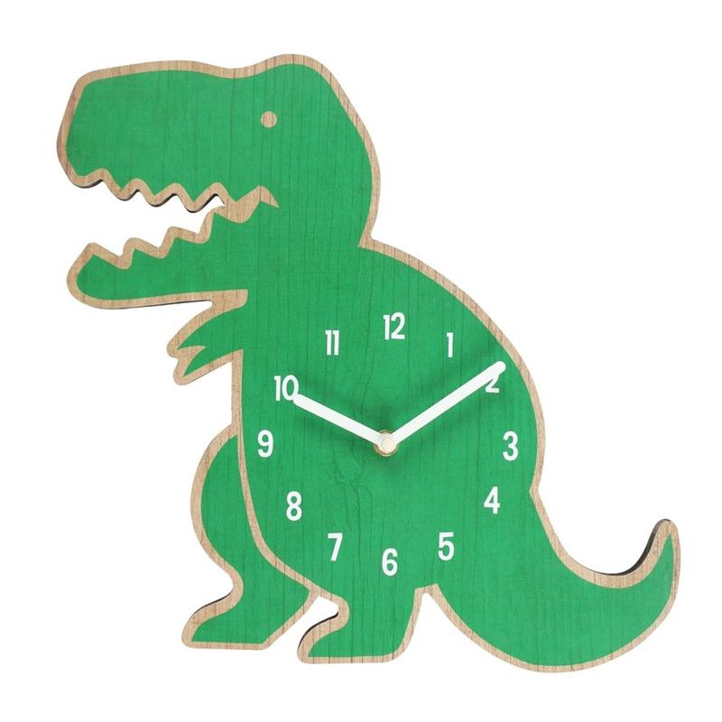 Wandklok - Green Dinosaur