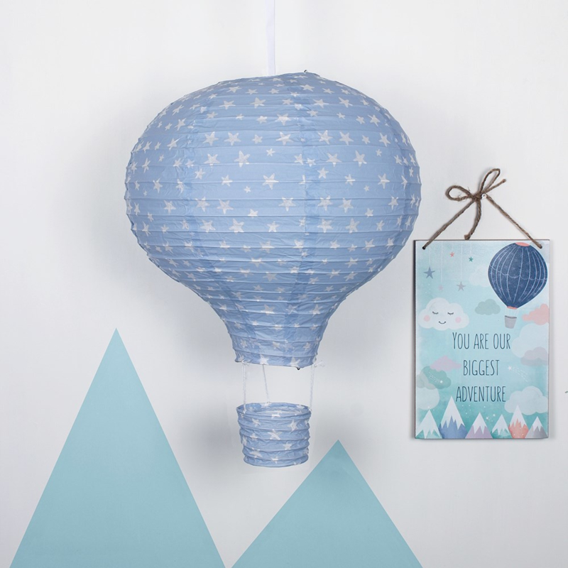 Lampenkap - Blue Hot Air Balloon