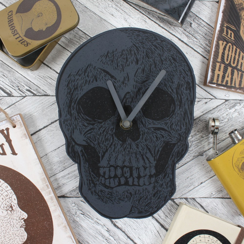 Wandklok - Skull