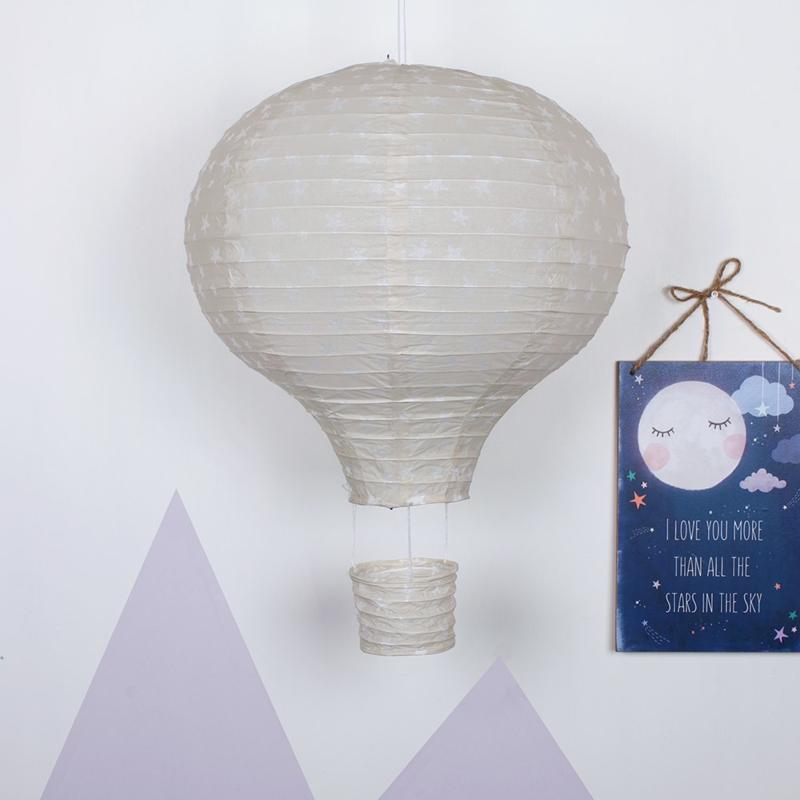 Lampenkap - Grey Hot Air Balloon