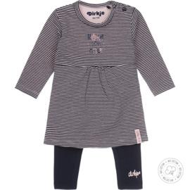 Dirkje meisjes babyset jurk streep basis