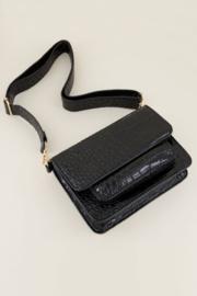 My Jewellery croco tas zwart