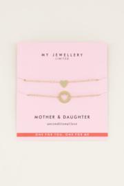 Moeder & dochter armband My Jewellery