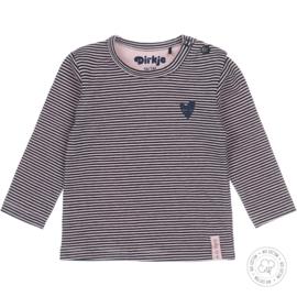 Dirkje meisjes shirt navy streep basis