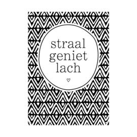Tuinposter / Straal geniet lach