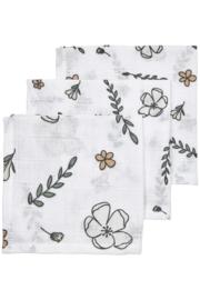 Biologisch Hydrofiele Monddoekjes 3pack Floral