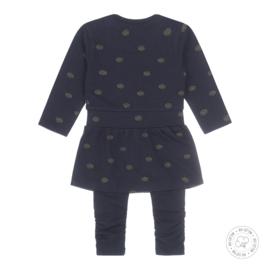 Dirkje meisjes babyset jurk donkerblauw basis