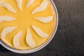 Cheesecake peer en witte chocolade