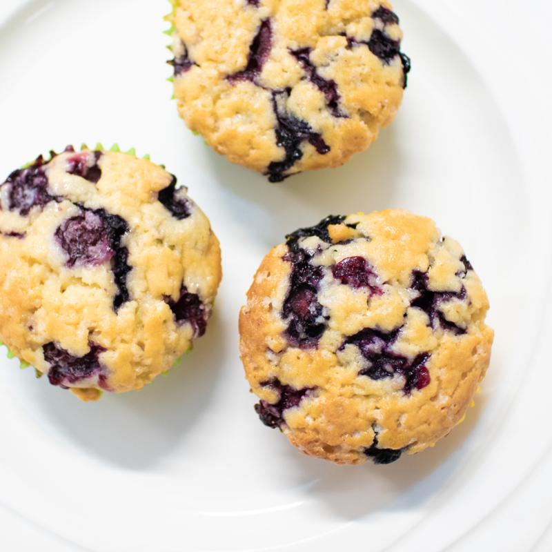 Lemon Blueberry Muffins (8 stuks)