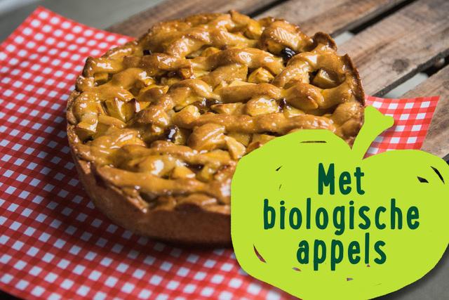 Appeltaart met biologische appels