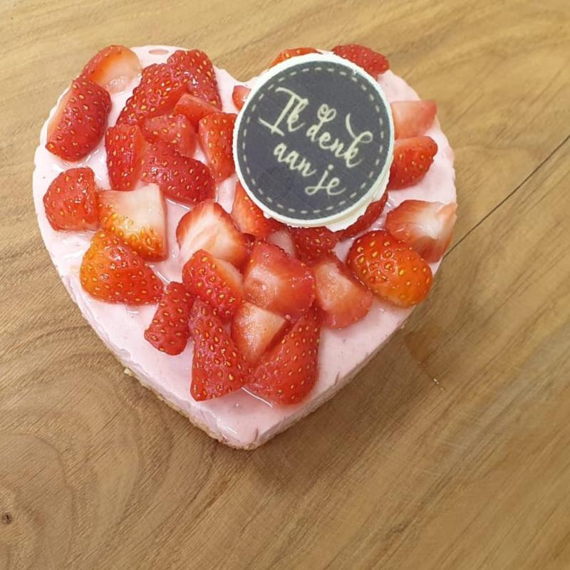 Mini-taartje aardbeienbavarois (2 personen)