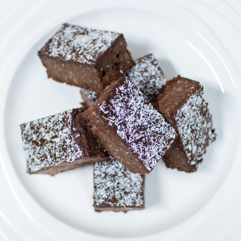 Healthy brownies - lactosevrij, glutenarm en suikerarm (6 stukjes)