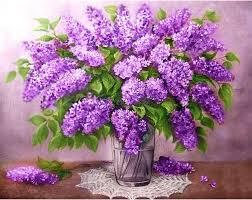 Diamond Painting Lilac Bouquet DE5855