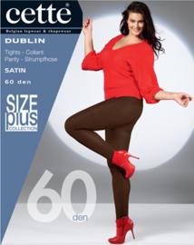 CETTE DUBLIN SIZE PLUS - dichte panty 60 den ristretto / bruin