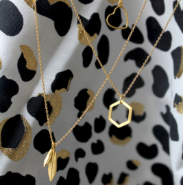 BY LAUREN feather party ketting gold
