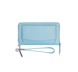UITVERKOOP LouLou Essentiels Beau Veau Silver Wallet light blue