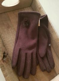 Handschoenen bruin met pomponnetje
