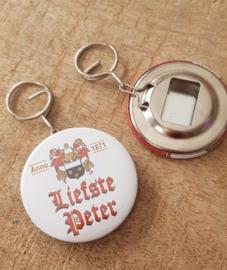 UITVERKOOP Button flesopener sleutelhanger liefste peter  (Duvel)