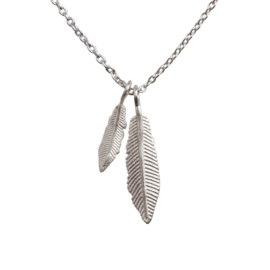 BY LAUREN feather party ketting silver