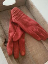 Handschoenen roestoranje