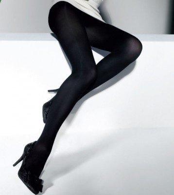 CETTE DUBLIN SIZE PLUS - dichte panty 60 den blauw/zwart blue black