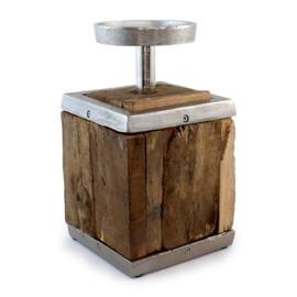 Kaarsenstandaard vintage wood Myflame