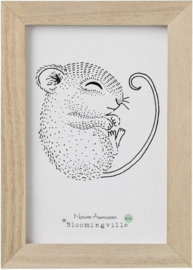 Bloomingville lijstje met poster Sleeping Mouse