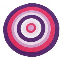 Sebra vloerkleed rond roze paars