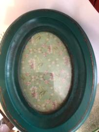 Nordal vintage fotolijst ovaal turquoise