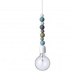 Bloomingville kralenlamp blauw