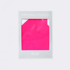 Ferm living sticker huis fluor roze