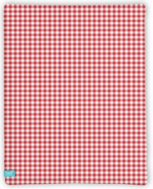 Lief lifestyle hoeslaken red check 90x200 cm