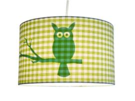 Little Dutch hanglamp groene ruit uil